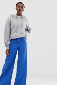 Weekday - Beat - Hellblaue Jeans mit superweitem Bein - Blau - Farbe:Blau