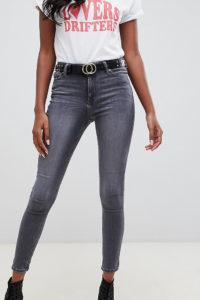Miss Selfridge - Enge Jeans in Grau - Grau - Farbe:Grau