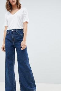 Weekday - Ace - Jeans mit Bio-Baumwollanteil und weitem Bein - Blau - Farbe:Blau