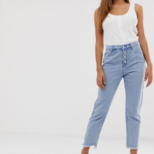 Missguided – Wrath – Jeans in Stonewash-Blau – Blau