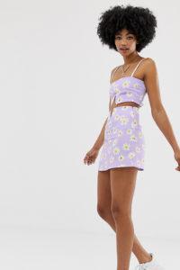 Another Reason - Minirock mit Zierausschnitt - Kombiteil - Violett - Farbe:Violett